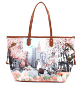 YNOT Women's Shoulder Bag Multicolour stampa Spring in New York
