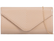 Womens Ladies Faux Leather Fold Over Flap Prom Party Evening Dressy Occasion Hand Clutch Bags - T91