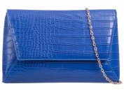 Womens Ladies Croc Print Fold Over Flap Prom Party Evening Dressy Occasion Hand Clutch Bags - T83
