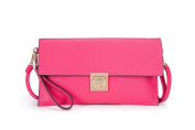 Large Faux Leather Envelope Clutch Evening Bag