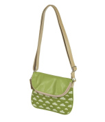 Daydream Cross Body Bag Green & White Clouds Design CLBH-G