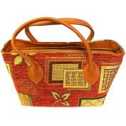 Java Town Ladies Hand Bag Rich Orange