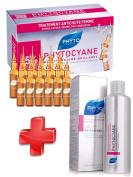 Phyto KIT Phytocyane - Phytocyane Anti-Hair Loss Densifying Treatment Women 12 x 7.5ml + Phyto Phytocyane Revitalising Shampoo Female Hair-Thinning 200ml