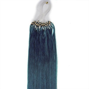 100s 41cm 46cm 50cm 60cm 60cm 70cm Loops Micro Rings Beads Tipped Remy Human Hair Extensions Straight 10 Colours in Women Beauty Style (46cm 0.5g/s 100s each pake, #Blue) by pansy