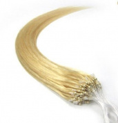 100s 41cm 46cm 50cm 60cm 60cm 70cm Loops Micro Rings Beads Tipped Remy Human Hair Extensions Straight 10 Colours in Women Beauty Style (41cm 0.4g/s 100s each pack, #613 light blonde) by pansy
