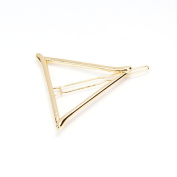Veroda 3pcs Triangle Moon Star Shape Hairpin Side Clip Hair Styling Accessories Gold