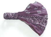 Ladies elastic back bandana headwrap cravet