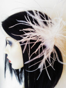 Desire Accessories Vintage Inspired Feather & Crystal Fascinator