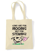 Vegetarian Cows Are For Mooing Cotton Shoulder Shopping Bag