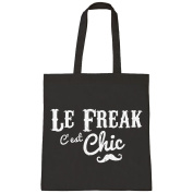 Le Freak C'est Chic Retro Slogan Freak Chic Tote Bag Shopper