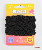 4PCS FANCY HAIR BOBBLES STRONG ELASTIC THICK BAND PONYTAIL HOLDER SCRUNCHIES