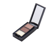 Professional Waterproof Three-Colour Eyebrow Powder Palette Cosmetic Makeup Shading Kit with Brush & Mirror #2