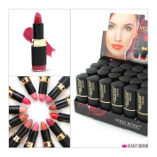 24 x LUXURY LIPSTICK SET 12 DIFFERENT SHADES FULL SIZE WHOLESALE UK