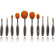 PIXNOR Professional Makeup Brush Set Foundation Brush Powder Brush Cosmetic Brush Make Up Toothbrush 10pcs