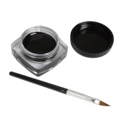 Tonsee 2 PCS Mini Eyeliner Gel Cream With Brush Makeup Cosmetic Black Waterproof