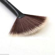 Velishy(TM) Fan Shape Makeup Brush Blending Highlighter Face Contour Powder Brush