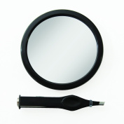 Small Zadro 12x Magnifying Mirror with LED Tweezers - EZ-Grip