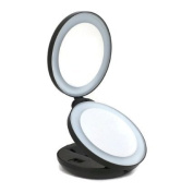 RushPanda LED Makeup Folding Mirror Double side with Magnifies 10x and 1x