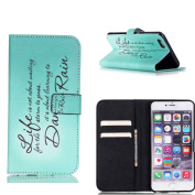 Apple iPhone 6S Plus (14cm ) Case Card Holder, ELECDAY Girls Wallet with Stand Hybrid Flip Protective Cover, PU Leather Protector Built-in [Money/ Credit/ ID Card Slot] [#1]