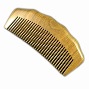 100% Hand Made Green Sandalwood Comb, Sandal Wood Comb anti static 12.2cm
