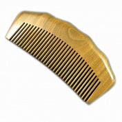 100% Hand Made Green Sandalwood Comb, Sandal Wood Comb anti static 12.2cm
