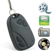 Ugetde® Car Keychain Spy Camera Hidden Pinhole Digital Video Recorder & Mini Spy Camera