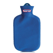 2 Litre Hot Water Bottle Heat Therapy with Contour Cover Fleece Hot Water Bottle - Blue