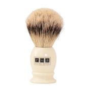 The Mayfair Soft Badger Hair Shaving Brush in Ivory Resin
