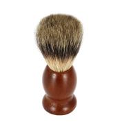 Anself Male Badger Shaving Brush Blaireau Brush with Wood Handle for Razor Men's Facial Badger Hair Brush Facial Clean Tools for Beard Brown