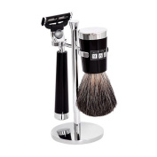 The Fitzrovia Mach3 Black Resin Shaving Set