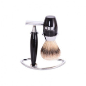 The Trafalgar Safety Razor Black Resin Shaving Set