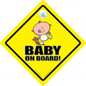 Baby On Board Sign, Baby On Board Car Sign, Cutie With Bear, Baby On Board, Baby Sign, Unisex Baby on Board, Grandchild On Board, Decal, Bumper Sticker