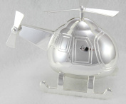 Christening Gifts. Boys Silver Plated Helicopter Money Box