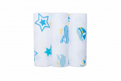 Bubble Bamboo Wrap Nautical - Pack of 3