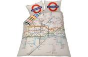 London Tube Map Bedding Set - Kingsize.