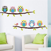 Latinaric Owl Wall Stickers Children's Bedroom Cartoon
