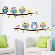 Latinaric Owl Wall Stickers Children's Bedroom Cartoon