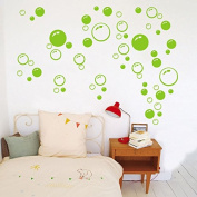 86 Bubbles Bathroom Window Wall Art Decoration DIY Sticker DIY Decals Removable Living Room Bedroom Bathroom Wall Decal Stickers-Green