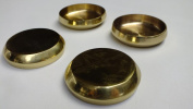 """Foam & Upholstery Warehouse Round Brass Castor Coaster / Cup 2"""" (50mm) Pack Of 2"""