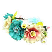 Jelinda Women Girls Boho Flower Wreath Headband Floral Crown Garland