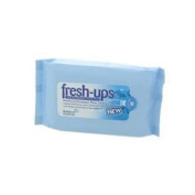 Fresh Ups Cooling Menthol and Eucalyptus Moist Wipes - Pack of 6, Total 120 Wipes