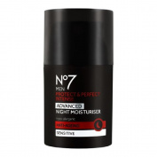 No7 Men Protect & Perfect Intense - ADVANCED Night Moisturiser - Anti Ageing - Sensitive - 50ml