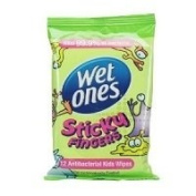 THREE PACKS of Wet Ones Sticky Fingers Wipes - Travel Pack 12