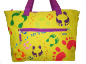 BEACH BAG Large or Medium or Small ***Aqua/Red/Yellow/Lime/ Orange/Blue/Purple/Green*** Floral Summer Bag Cruise Holiday Travel Picnic
