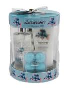 Floral Luxury Bath Spa Gift Set - Shower Gel, Body Lotion, Bath Fizzer, Bath Salt