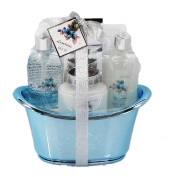 Floral Scent Luxury Bath Spa Gift Set in Tub Container- Shower Gel, Bubble Bath, Body Lotion, Bath Salt