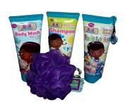 Disney's Doc McStuffins Bath Bundle Shampoo Body Lotion Body Wash Sponge