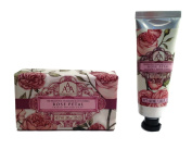 AAA Rose Petal Bath Bar Soap and Hand Cream Bundle - 2 Items