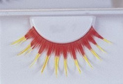 Eyelashes Red With Yellow by Morris Costumes