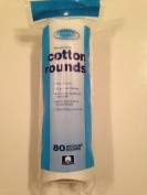 100% Pure Cotton, Cotton Rounds, 80 Regular Rounds by ASSURED